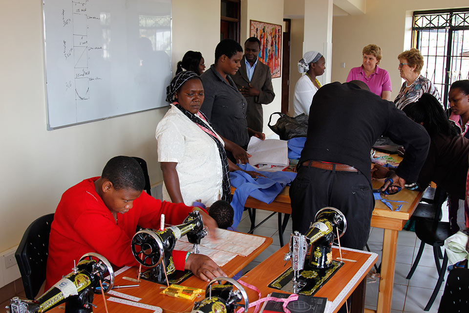 Women for Women in Africa Sewing-room-605