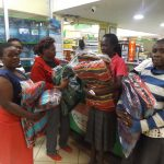 Grateful families shopping after the fires